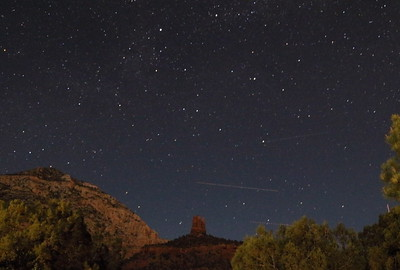 Chimney Rock at Night
