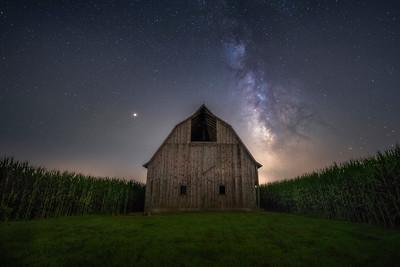 Lovely night on the farm in Osco, illinois