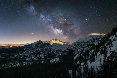 Moon Light on Longs Peak