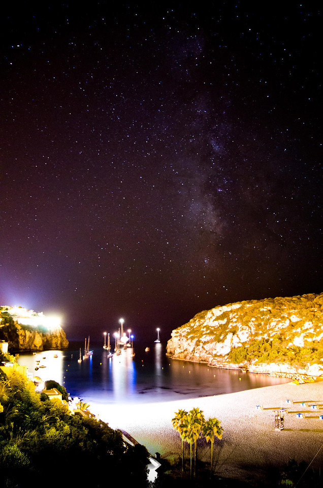 The Milky Way from Cala'n Porter, Menorca