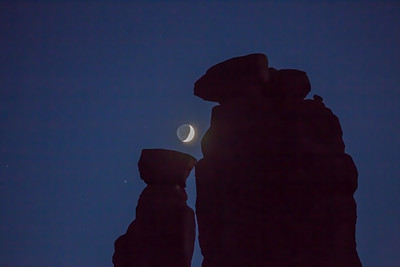 Crescent  moon at Aches National Park