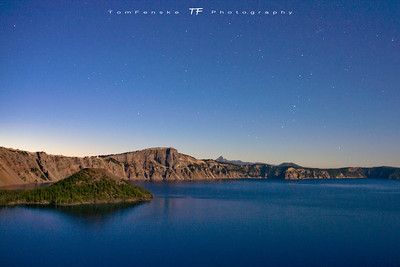 Crater Lake at Night