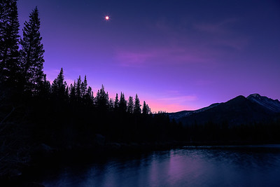 Bear Lake Moonshine just before Sunrise