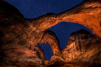 Double Arch At Night