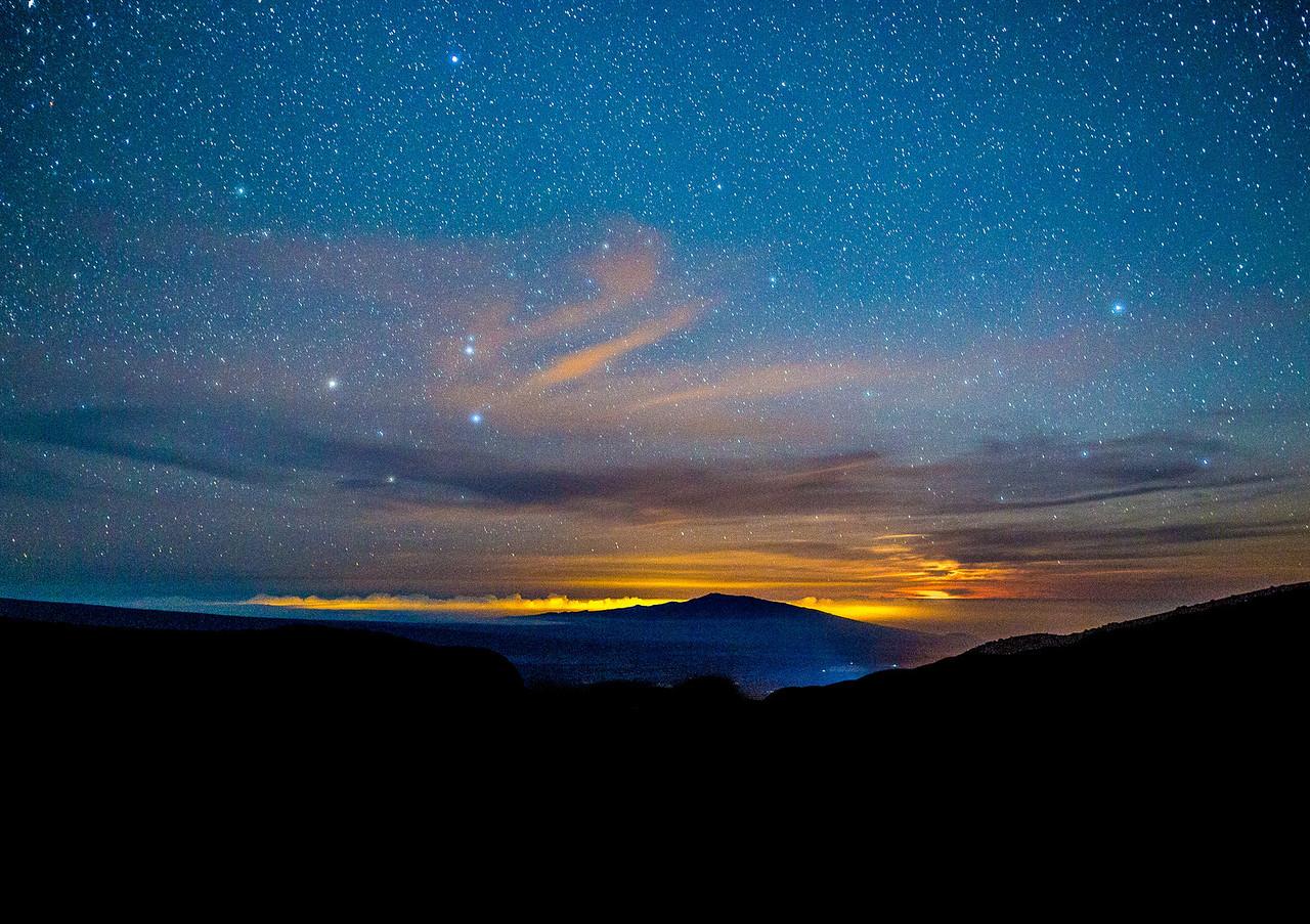 Hualalai Moonset