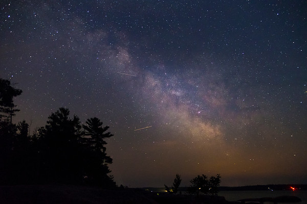 Night sky and shooting stars?