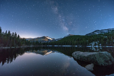 Calm Moonlite Night over Bear Lake
