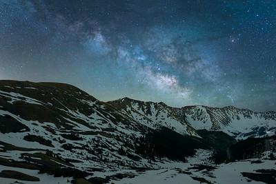 Loveland Pass Milky Way over Arapahoe Basin Ski Area