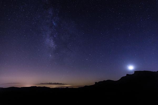 Full Moon and Milky Way | Rainbow Basin | California