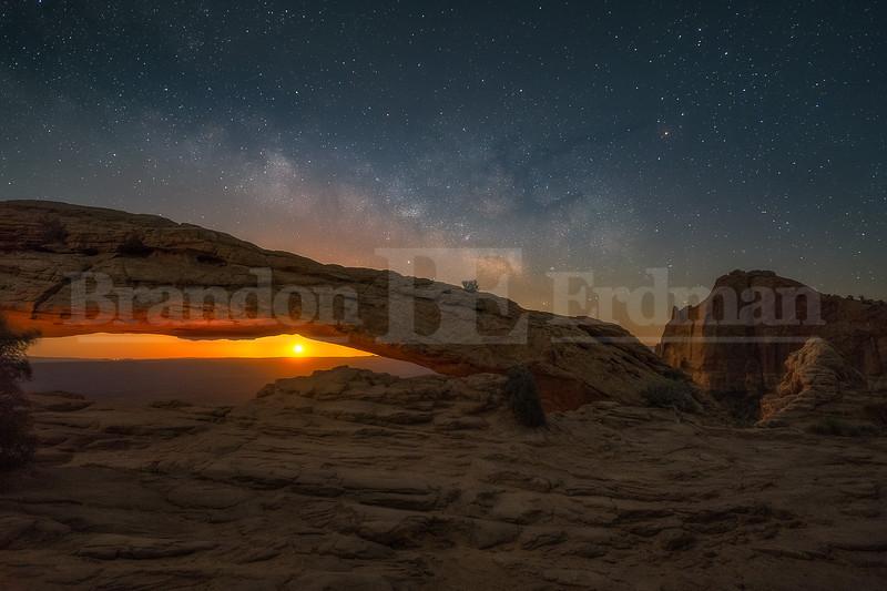 Moonrise at Mesa Arch