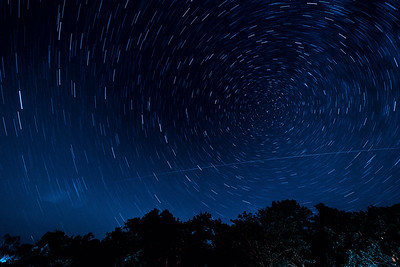 Star Trails and The ISS