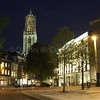 Trajectum Lumen - A Utrecht Tale of Light <br /> Dom tower dominating the night sky. Rear of city hall on right.
