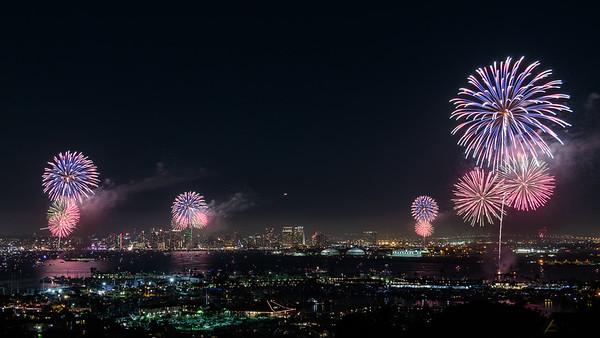 Fireworks July 4th 2017 San Diego Bay