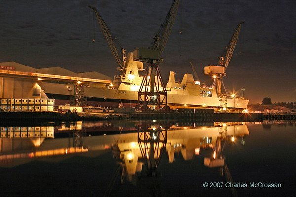 Night time views on the Clyde