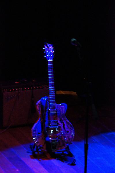 Blue Lit Guitar