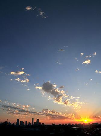 Sunrise over Downtown Denver