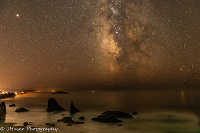 Milky Way over Bandon Beach in Oregon