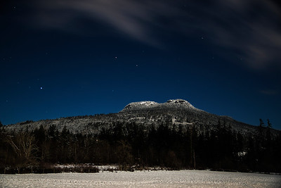 Snow Capped Night on Mount Prevost