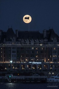 Full Moon Rise at the Empress, Victoria