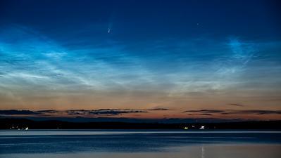 Comet NEOWISE, Kin Beach Chemainus