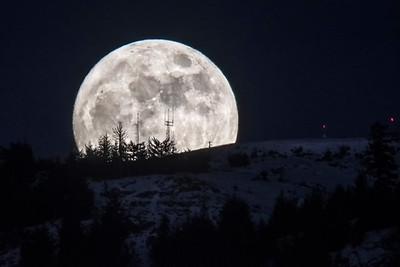Full Moon Rise over Mount Tuam