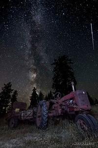 Antique Tractor Milky Way