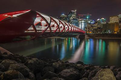 Peace Bridge and the City