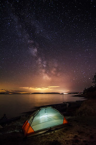Milky Way from Ruckle Park, Saltspring Island