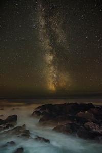 Milky Way at Big Beach Ucluelet vertical