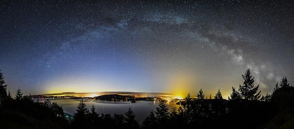 Milky Way arch over Saanich Inlet