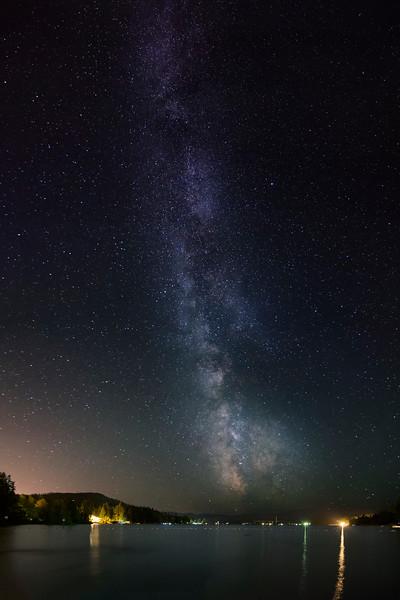 Milky Way in Shawnigan Vertical Pano
