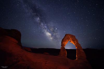 Delicate Arch Milky Way