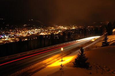ski hill rd. head/tail lights, storm a coming