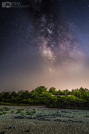 Milky way and the dunes