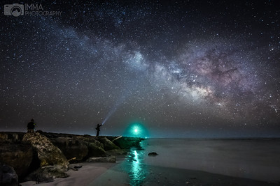 Milky way by the shore