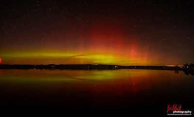 Aurora reflections at Monikie Country park