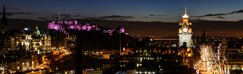Edinburgh's Night Skyline