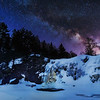 Little Manitou Falls and Milky Way