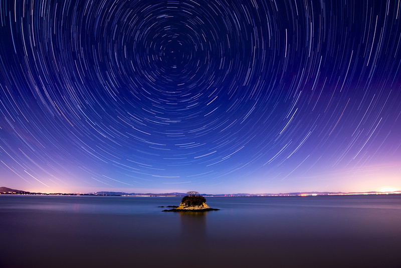 China Camp Star Trails, California