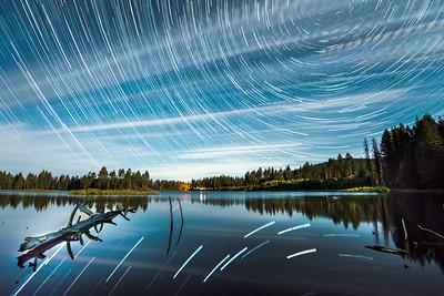 Northern California Reflective Star Trails