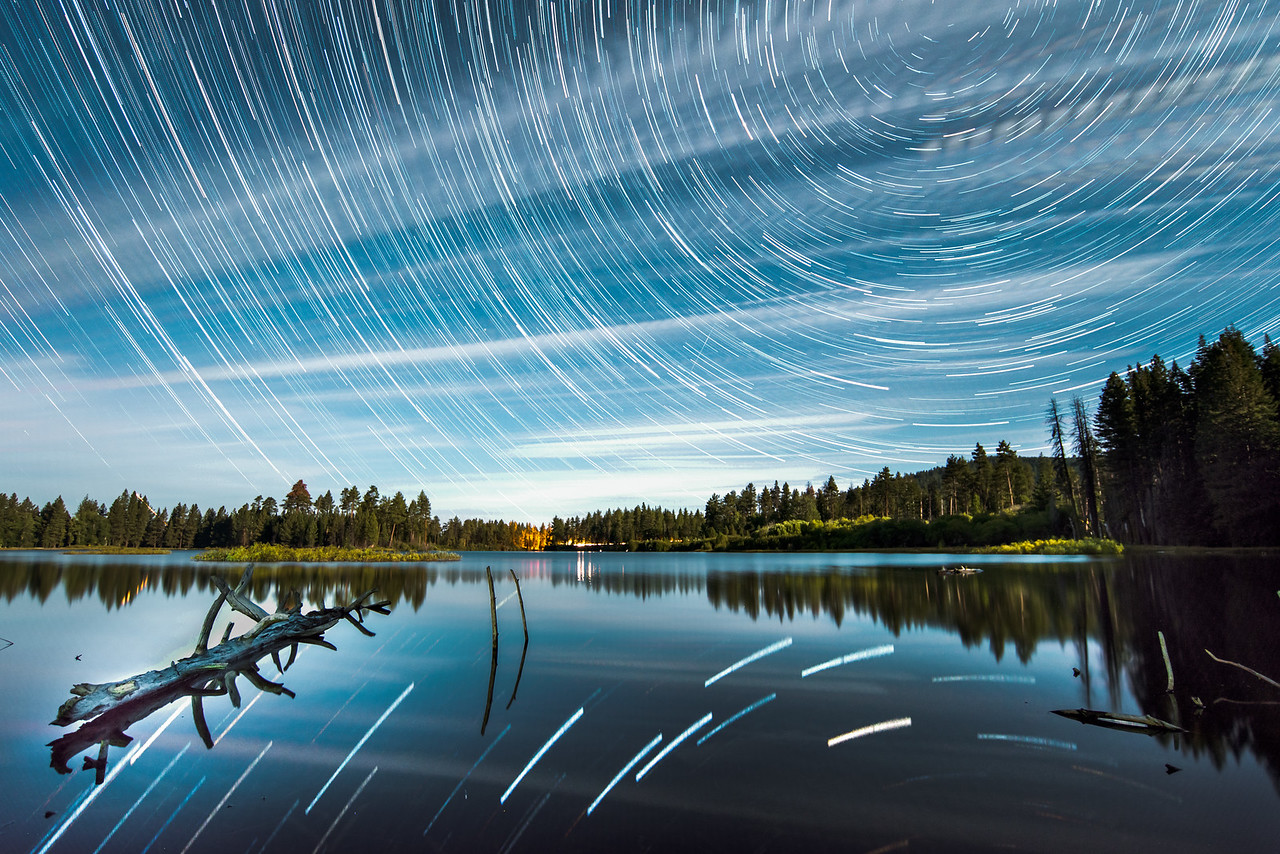 Northern California Reflective Star Trails