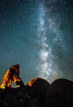 Milky Way over Lady Boot Vertical