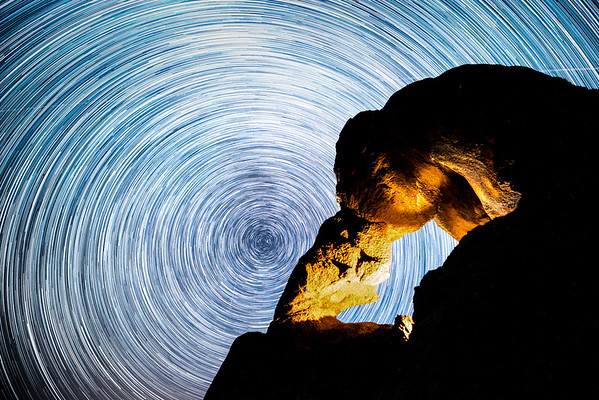 Ladyboot Arch Star Trails - Alabama Hills, California