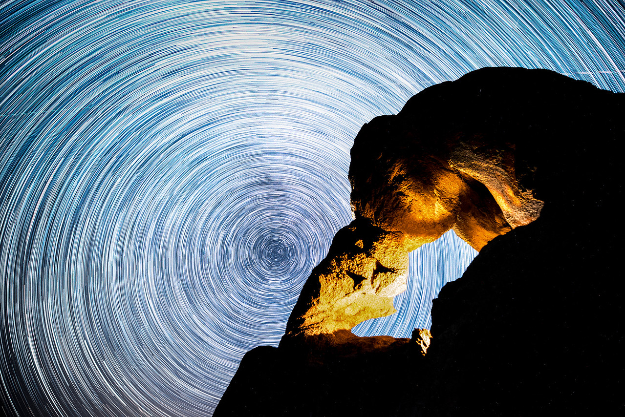 Ladyboot Arch Star Trails - Alabama Hills, California