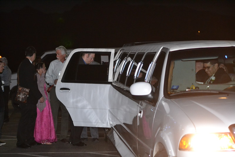 Guests of the Night to Shine event, sponsored by the Tim Tebow Foundation, are treated to a limo ride on Friday. Carie Canterbury/Daily Record 2-12-16