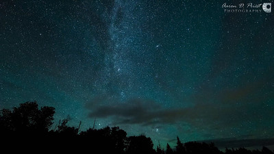 2015-08-13 Perseid meteor shower, sunrise, and afternoon clouds