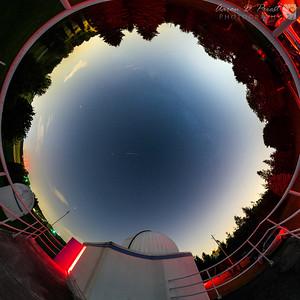 200° fisheye view