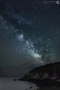 Milky Way over Otter Cliffs, Acadia National Park