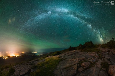 Airglow over Cadillac Mountain - Crop