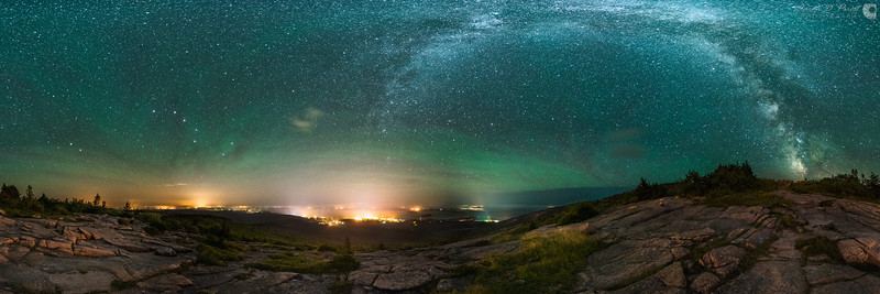 Airglow over Cadillac Mountain